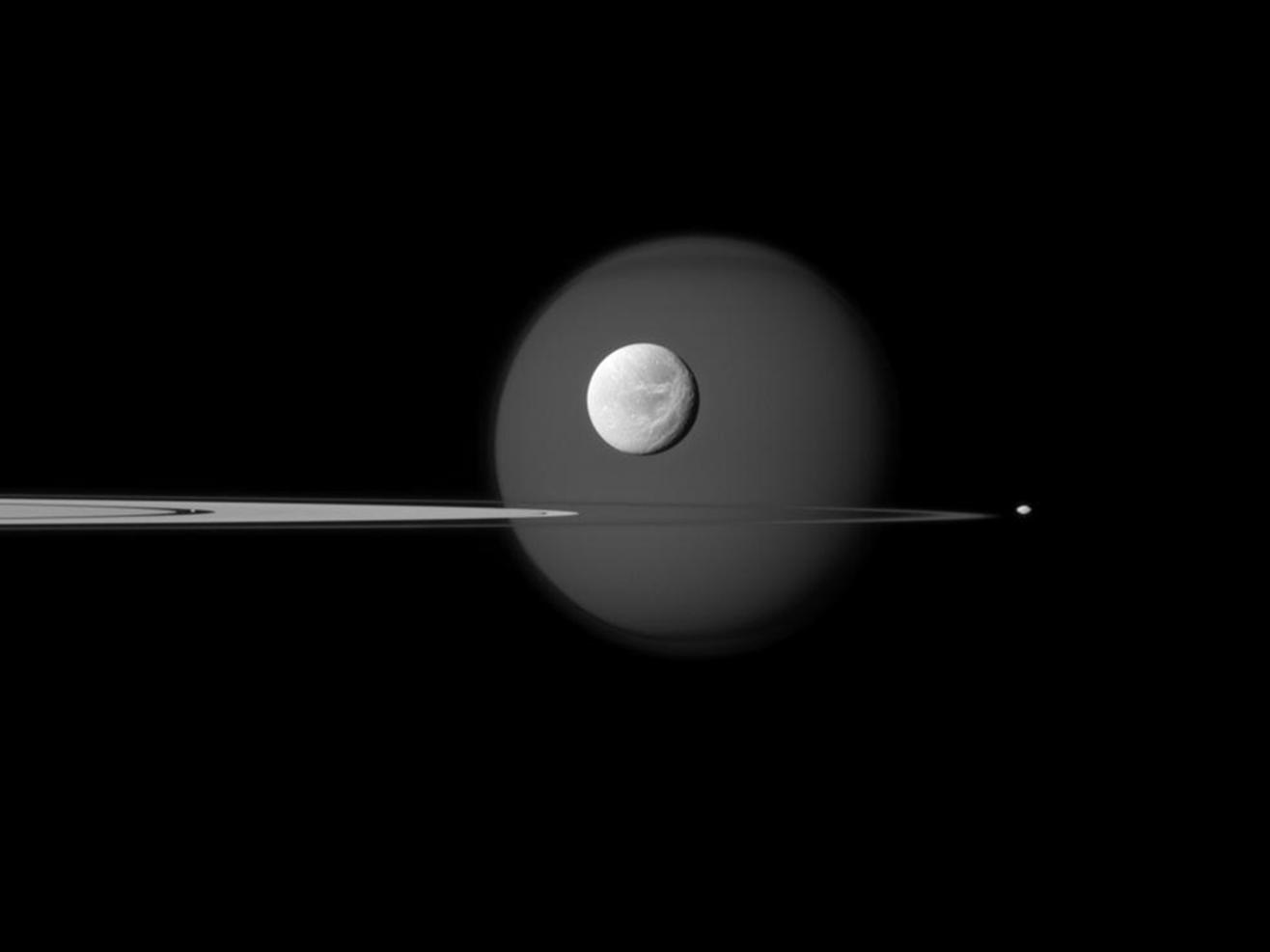 Orbiterch Space News Cassini to Make a Double Play