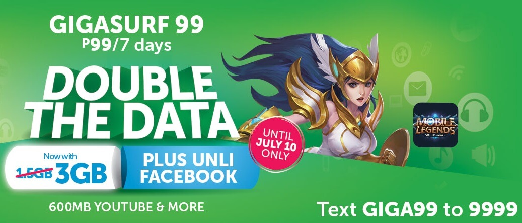 Smart GigaSurf99 Now Comes with 3.6GB of Data plus Unli Facebook for 7 Days