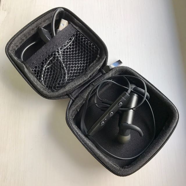 SoundPEATS Q12 Wireless Earphones in case