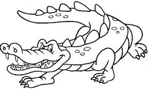 Angry Crocodile Coloring Pages