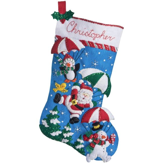 Felt Applique Christmas Stockings