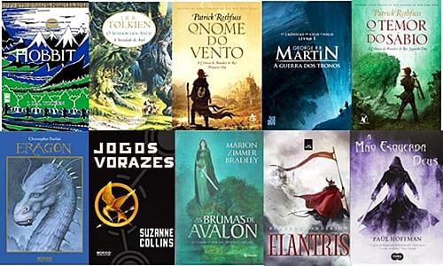 os 10 melhores livros de fantasia - capas de todos os livros