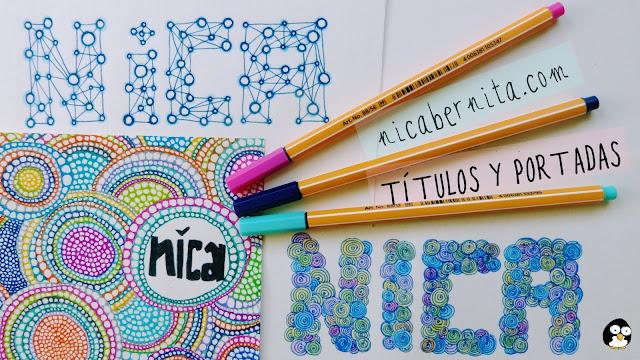 portadas y títulos para cuadernos, libretas, agendas o diarios NICA BERNITA2