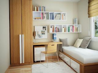 tips mendesain kamar tidur yang sempit dan minimalis
