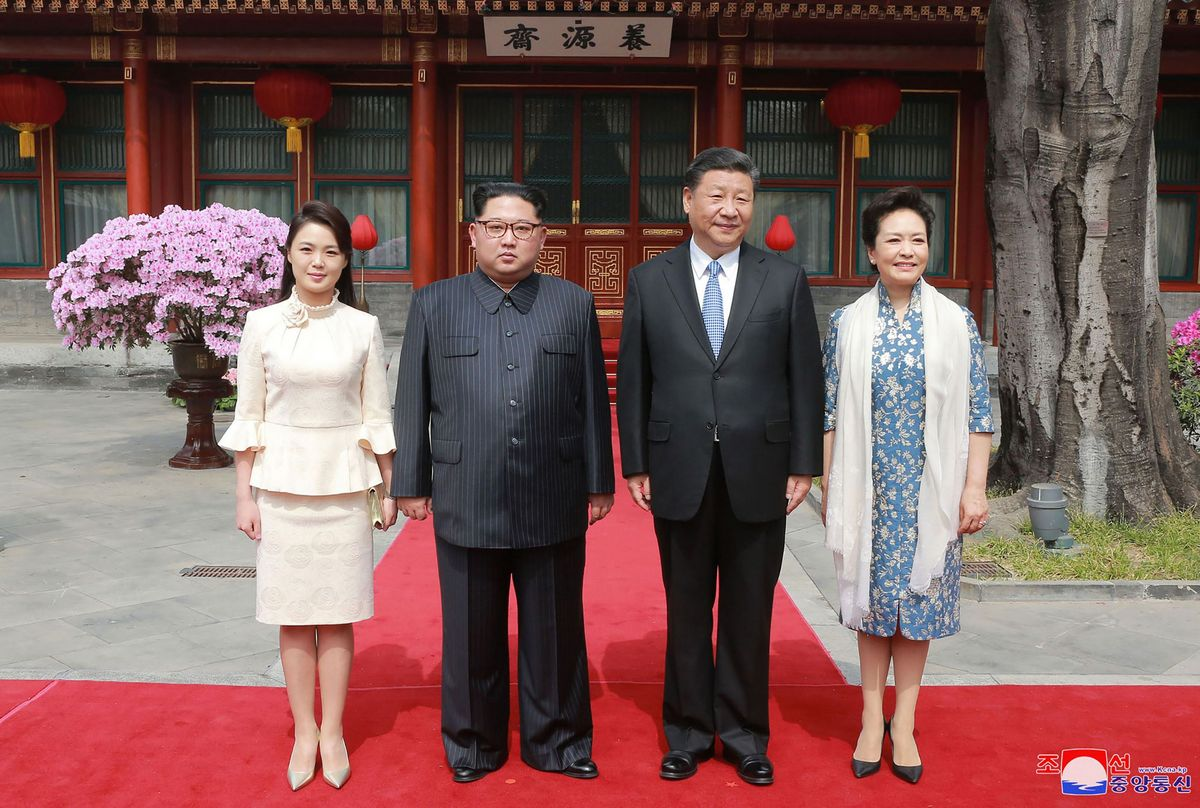 North Korean leader's wife accompanied him when he went to Beijing last month on his first overseas trip since inheriting power.