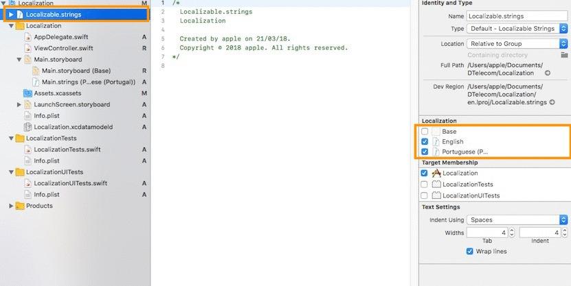 iOS tutorials for Beginners : Localization in swift 3