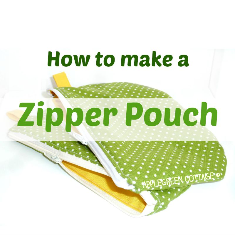 How to make a zipper pouch - free PDF pattern and tutorial