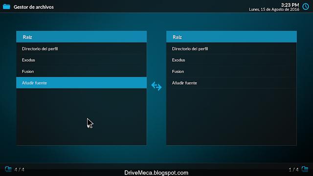 DriveMeca instalando y configurando Kodi paso a paso en español