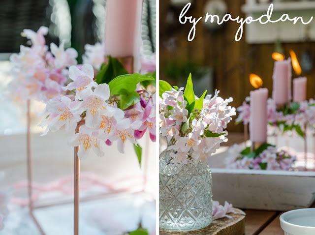 Blumendeko für den Tisch