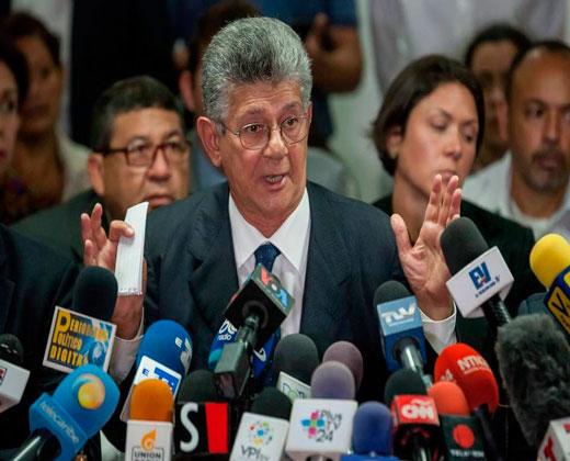 """Ramos Allup sobre Carta Democrática: la crisis """"no se puede ocultar más"""""""