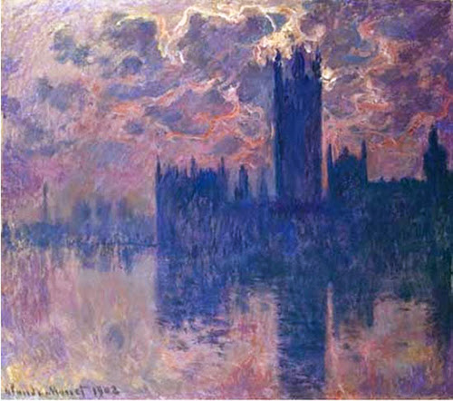on Monet's Houses of Parliament