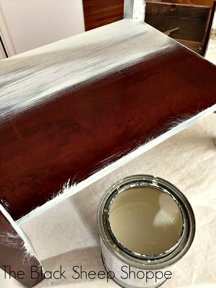 Apply a light base coat of chalk paint over slick surfaces