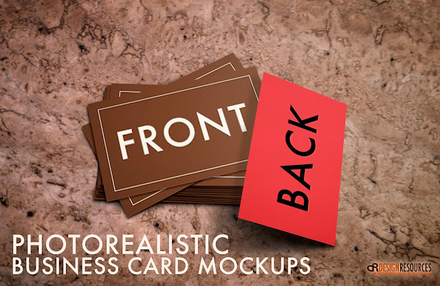 4 Business Card Mockups