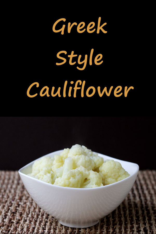 Greek-Style Cauliflower - it might look normal, but the flavors will surprise
