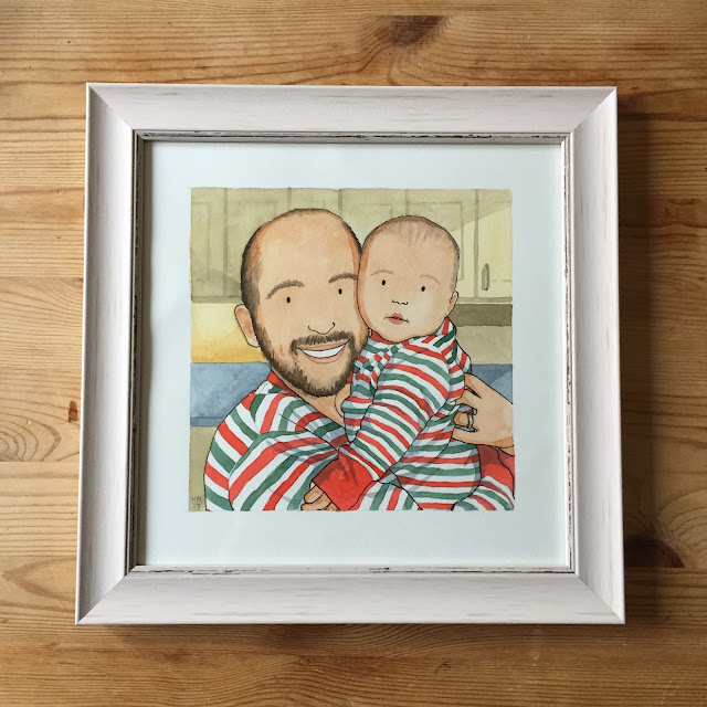 Liam & Connie by Helena Mackevych framed