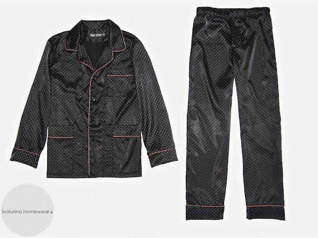 Herren Luxus Pyjama klassisch Schlafanzug elegant edel Seide Schwarz lang große Größe