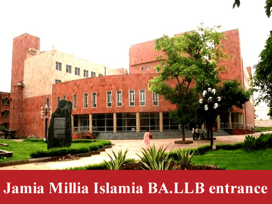 Jamia Millia Islamia BA.LLB Entrance Exame program