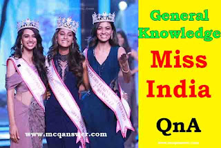 miss india general knowledge question and answer mcq answer