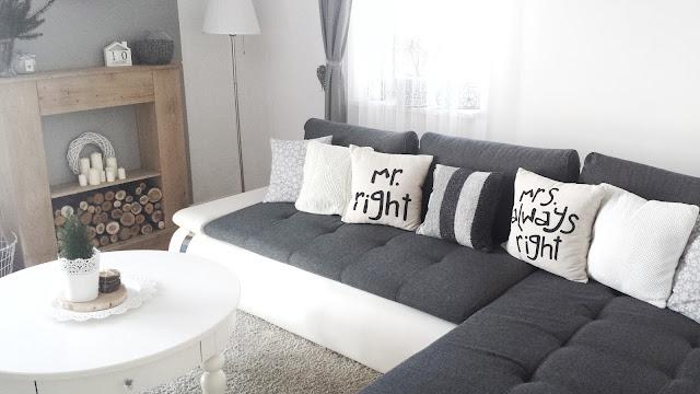 Poduszka ze swetra DIY stolik Isala Ikea