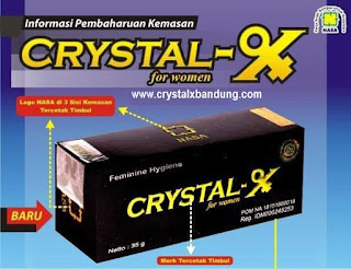 Distributor Crystal X Asli Kemasan Baru 2015