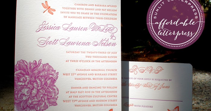 Cheap Wedding Invitations Vancouver