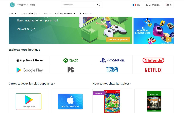 2800bc3b5 طريقة التسجيل في موقع Startselect وشراء بطاقة Card Google Play Store :