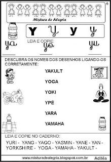 Livro famílias silábicas letra Y