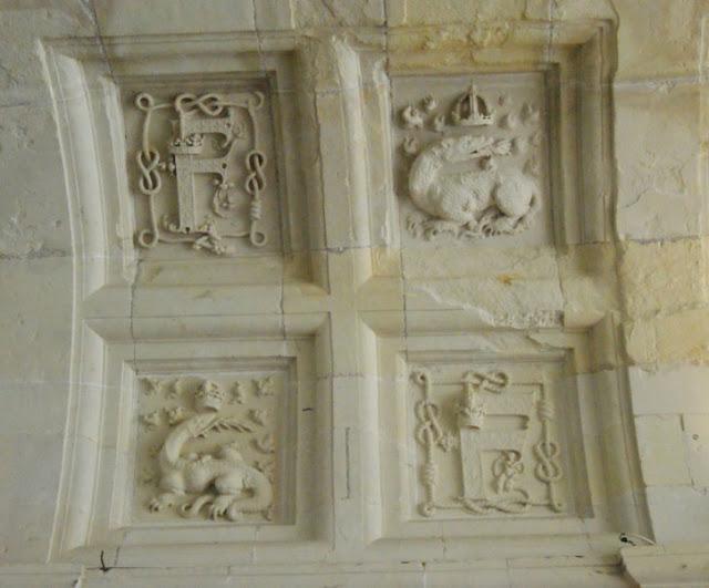 Le plafond des salles de Chambord.