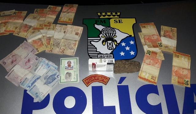 Em Poço Redondo/SE, PM prende indivíduo por suspeita de tráfico de entorpecentes