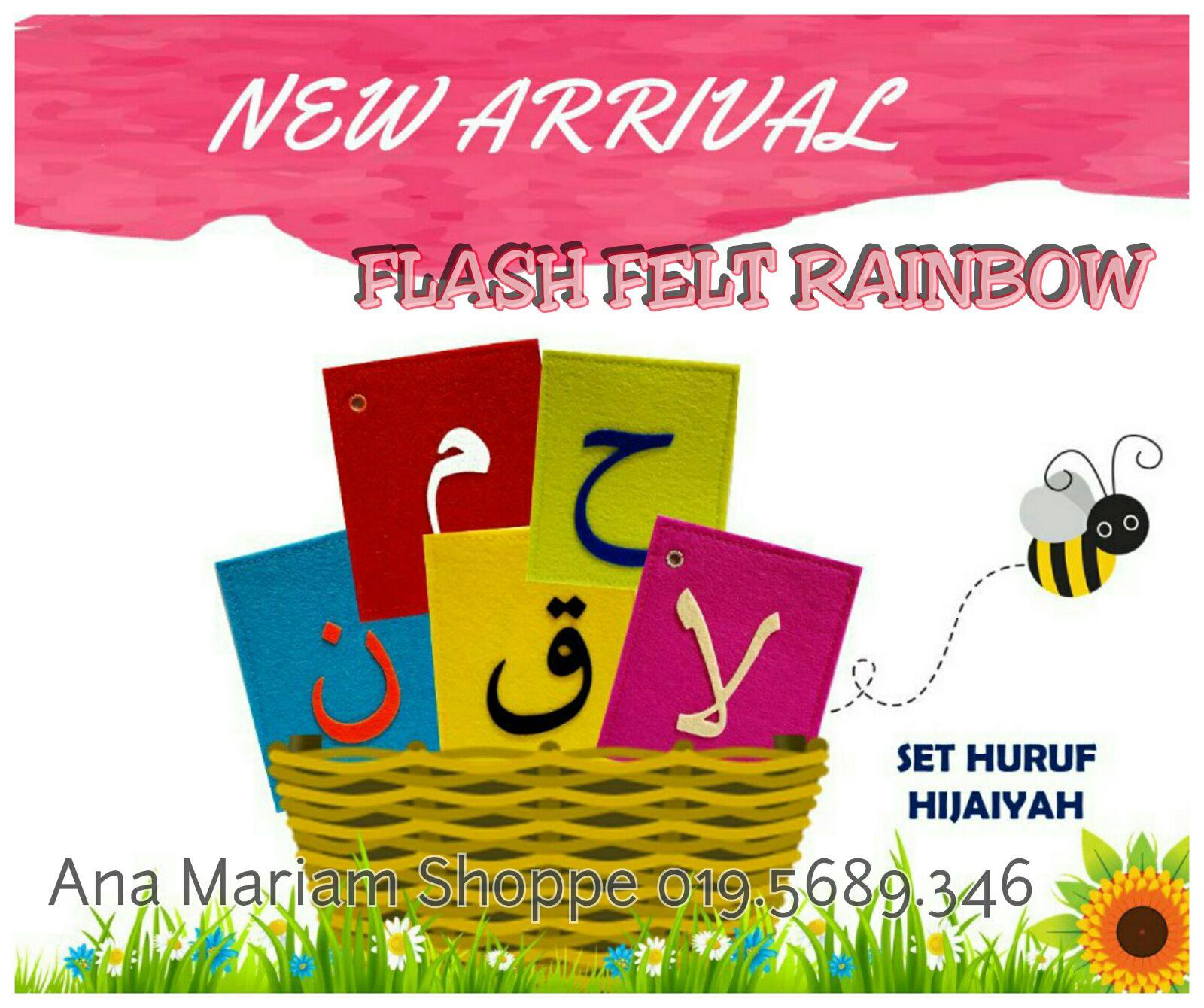 Flash Felt Hijaiyah Lets Trace Huruf Hijaiah Hard Cover Ffelt Rm4990