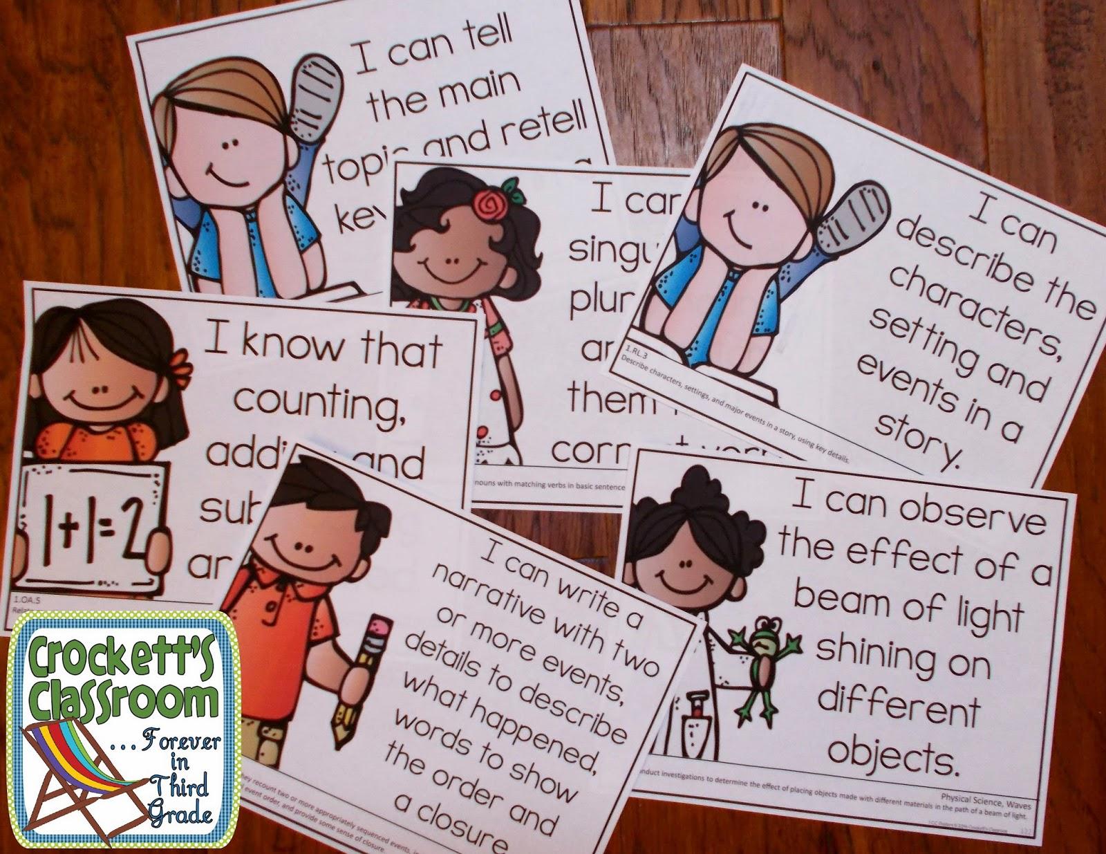First Grade CC Posters---Crockett's Classroom