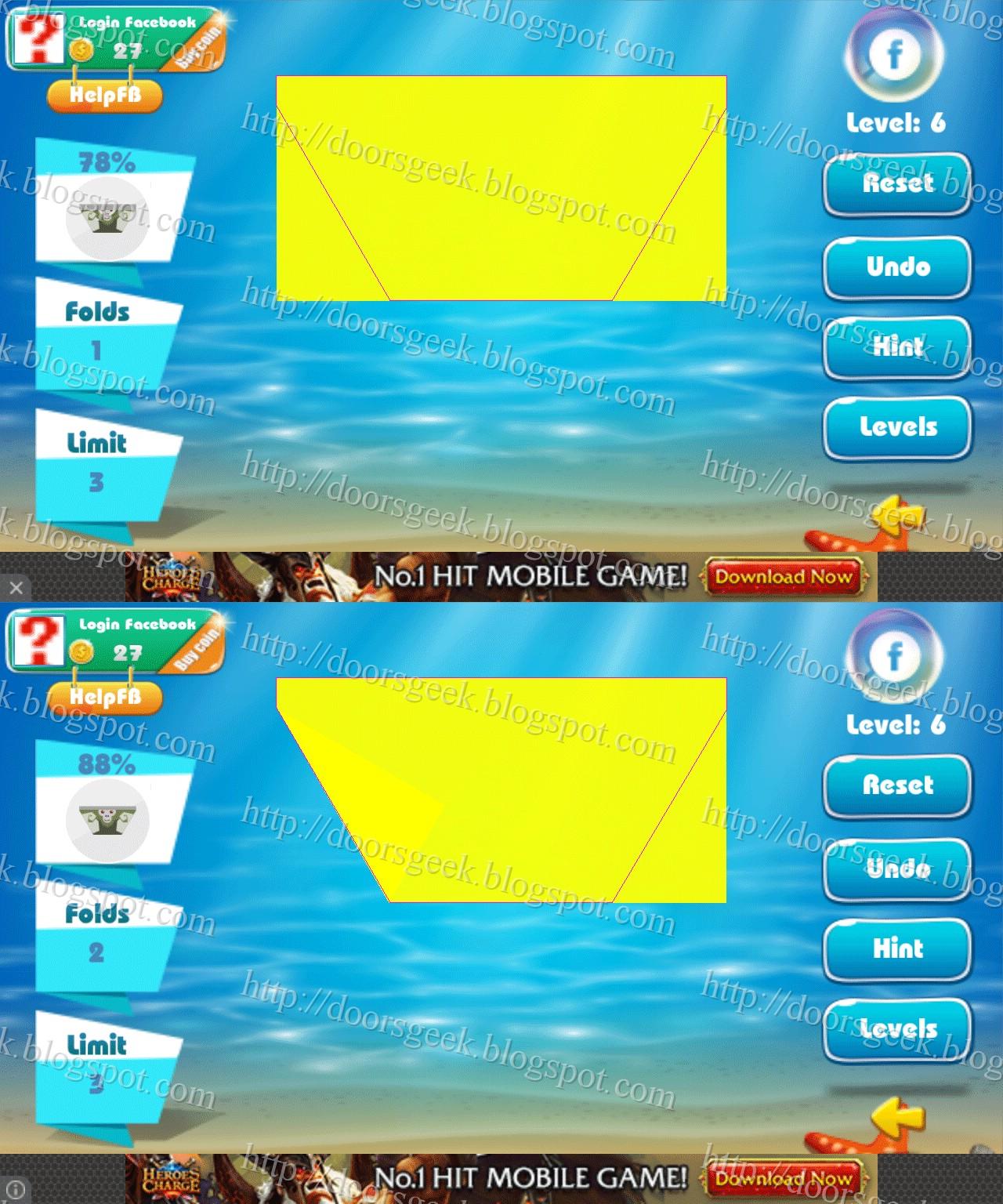 Paper Folding - Origami Level 6 Solution ~ Doors Geek - photo#22