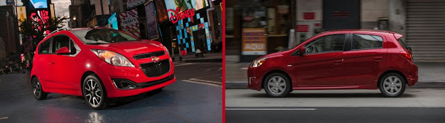 2014 Chevrolet Spark vs. Mitsubishi Mirage