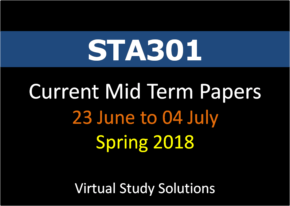 sta301 final term paper 2013