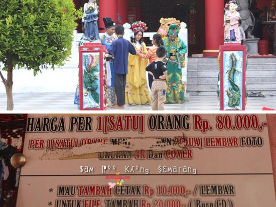 Biaya Foto dengan Costume di Sam Poo Kong klenteng semarang