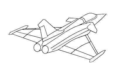 Gambar Mewarnai Pesawat Terbang - 14