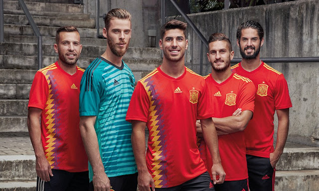 Spain home kit for the 2018 World Cup Russia