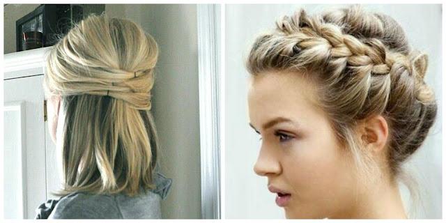 Penteados fáceis para cabelos curtos