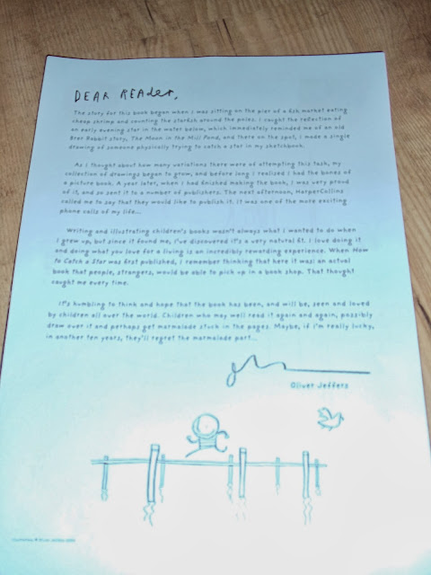 A letter from Oliver Jeffers