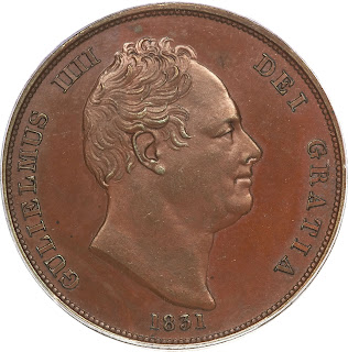British Coins One Penny 1831 King William IV