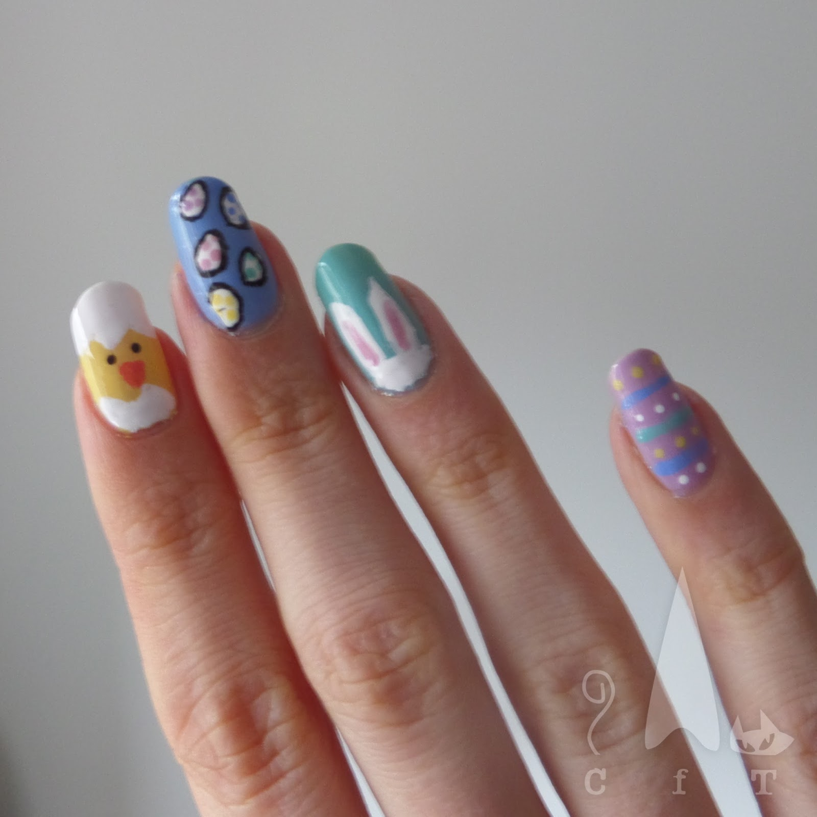 claws for thought easter nail art 2017