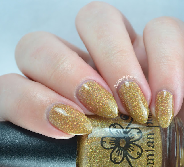 Bohemian Polish Lake Placid Gold