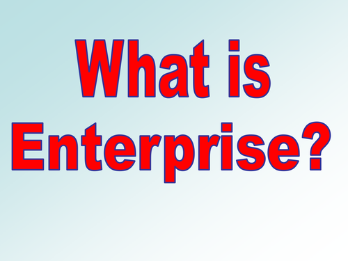 An entrepreneur needs to be able to turn an idea into a successful business. Enterprise is a skill.