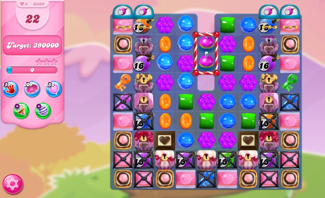 Candy Crush Saga level 6809