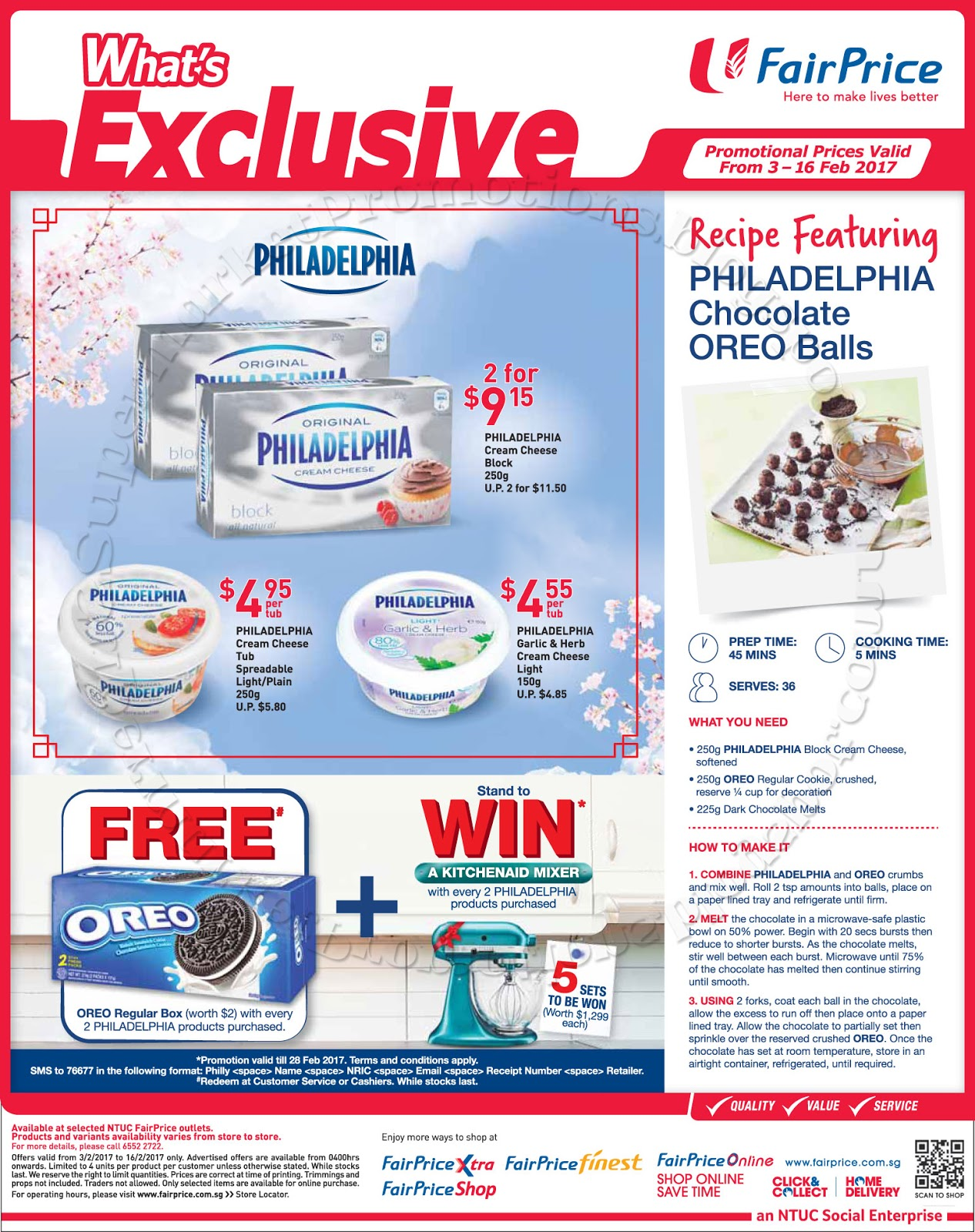 NTUC FairPrice Philadelphia Promotion 03   16 February 2017