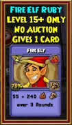 Fire Elf - Wizard101 Card-Giving Jewel Guide
