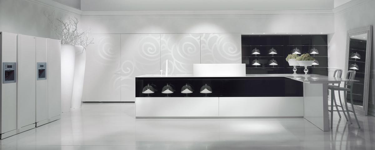 carrelage cuisine blanc et noir