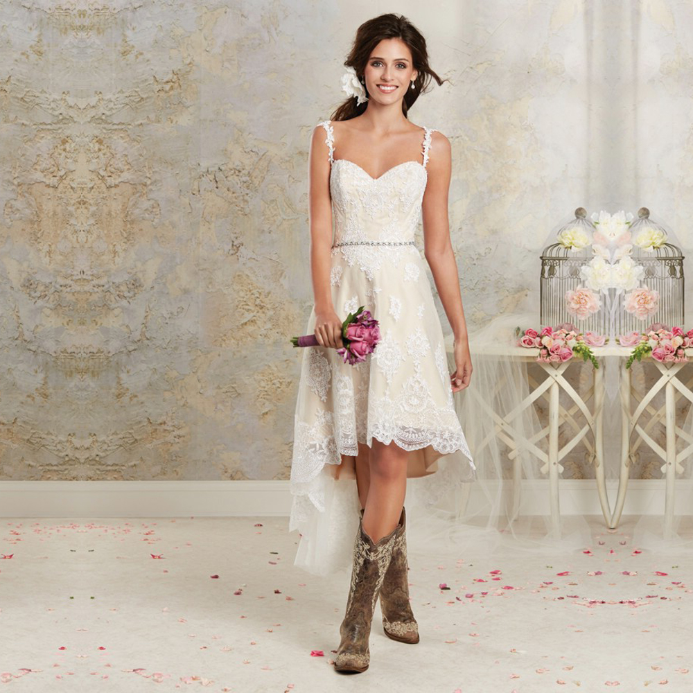 Wedding Dresses With Cowgirl Boots