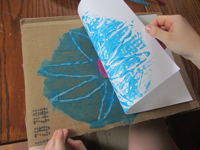 Summer Boredom Buster: Painting a Monoprint