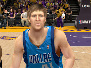 NBA 2K13 Dirk Nowitzki Cyber Face Patch